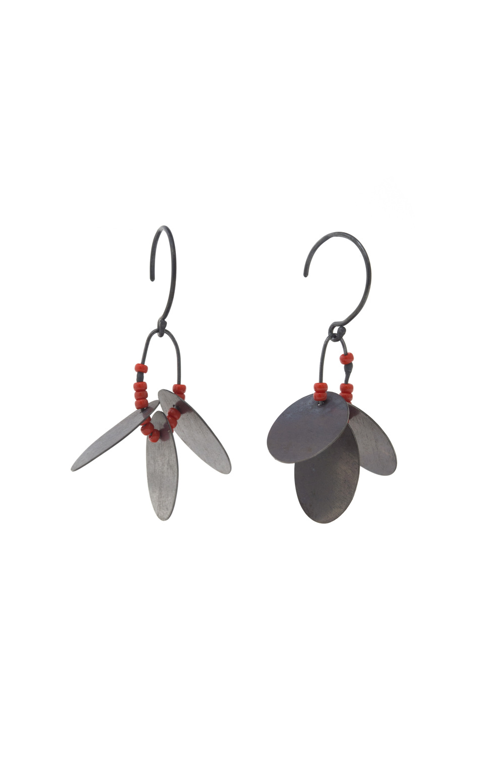 EE14 Bump, Raissa (2511) oxidized sterling silver discs with red glass beads.jpg