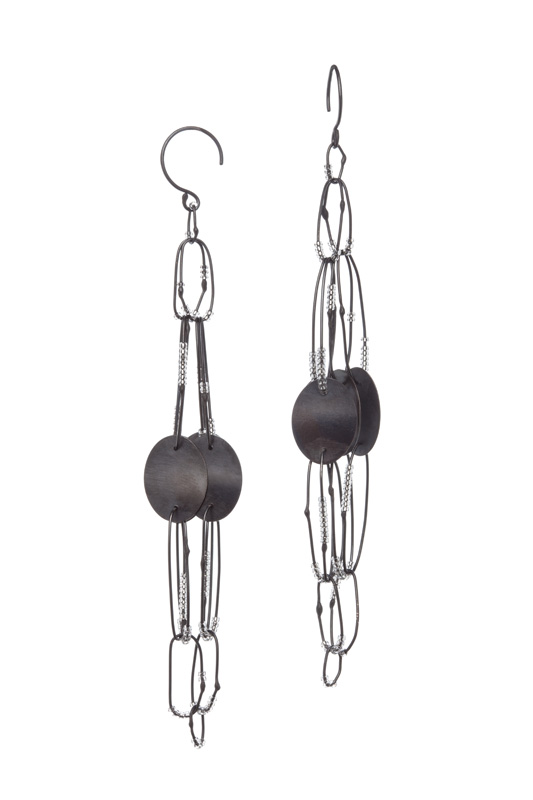 EE18 Bump, Raissa (2515) long oxidized silver with silver discs and silver lined crystal beads.jpg