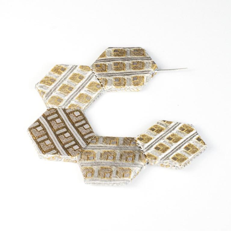 E3 Perrone, Louise gray, tan & gold silk from necktie, styrene, thread & silver.jpg