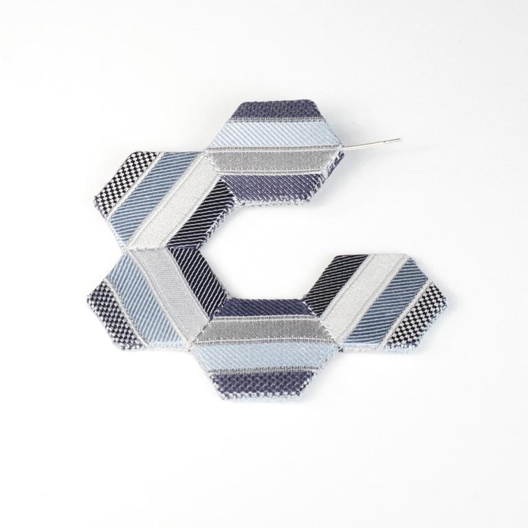 E6 Perrone, Louise light blue, silver, dark blue silk from necktie, styrene, thread & silver.jpg