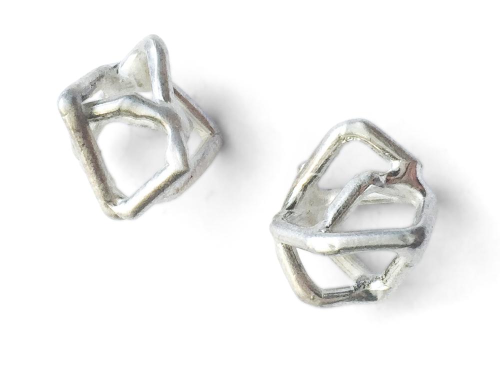 EE13 Petkus, Aimee small polished silver geometric shape on post.jpg