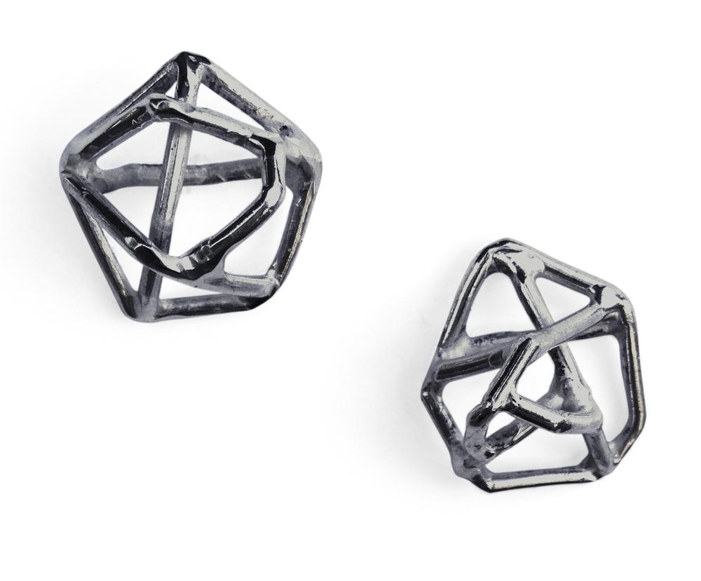 EE11 Petkus, Aimee oxidized silver medium geometric shape on post.jpg