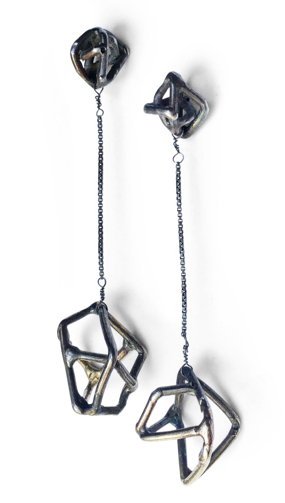 E9 Petkus, Aimee small oxidized geometric shape on shape with large shape hanging on chain.jpg