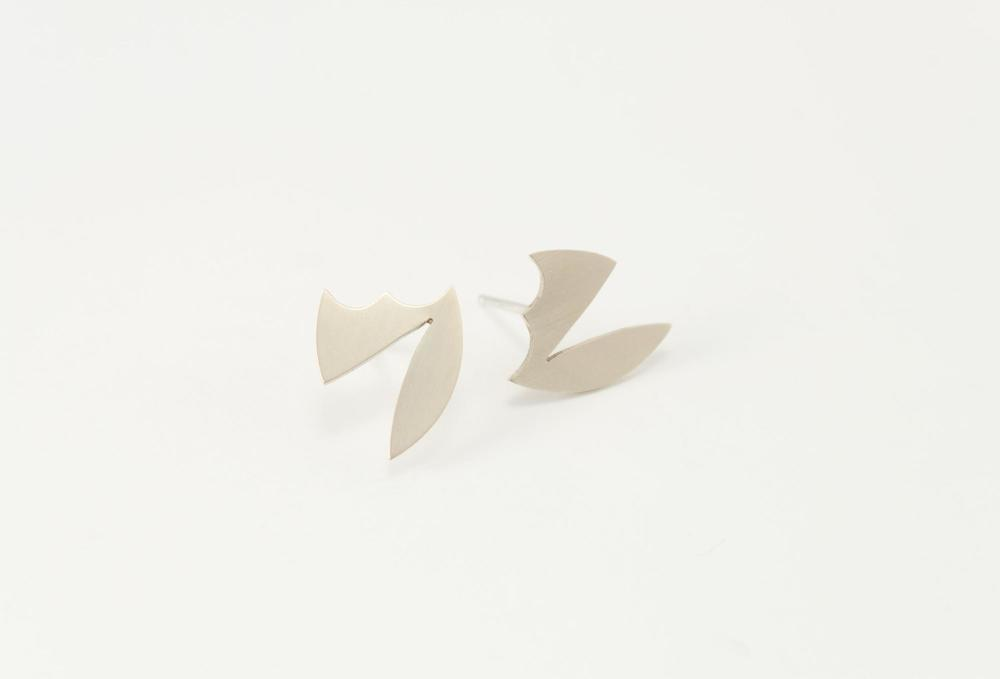 EE10 Snell, Lindsey (10) small brass & sterling silver badge, cutout, geometric shape.jpg