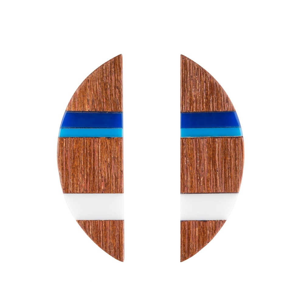 E2 Taylor, Kate half circle of wood with blue & white.jpg