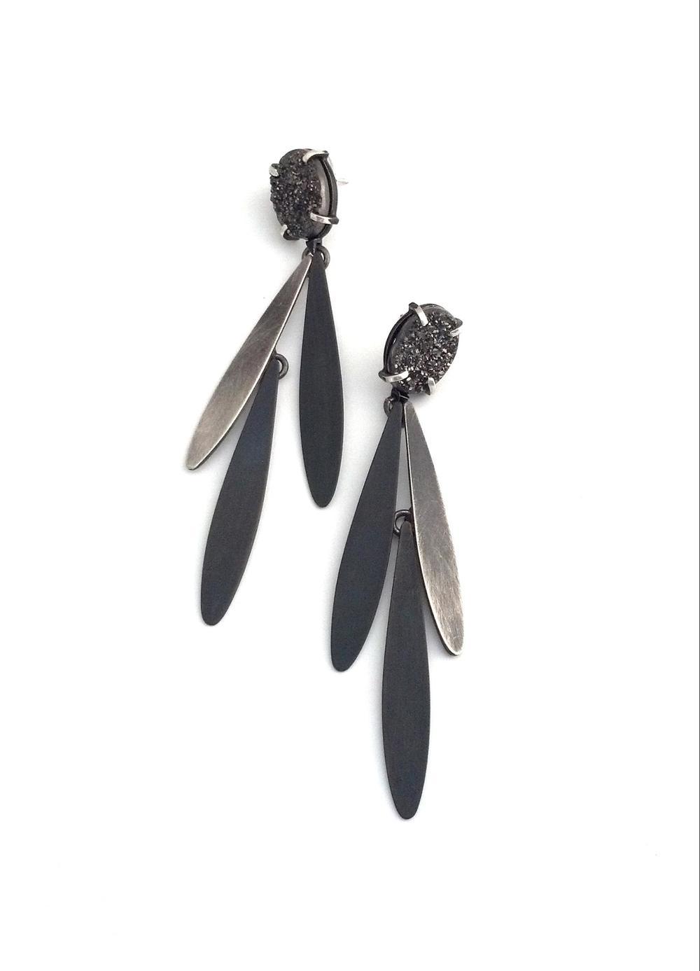 E7 Wood, Laura druzy fringe earrings.jpg