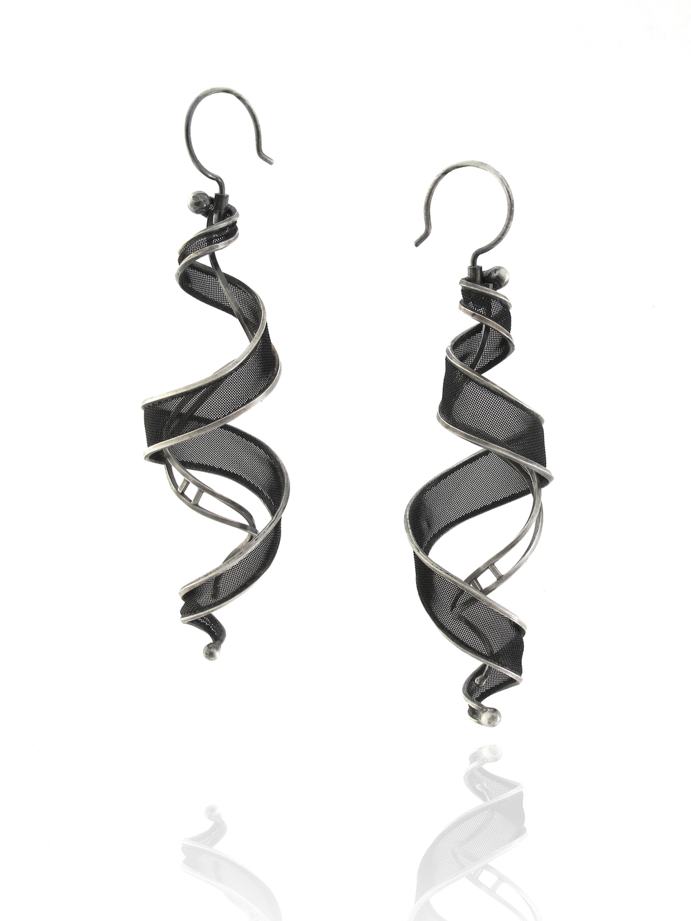 E9 Sellers, Caitie, Large Helix Earrings, sterling silver, copper mesh, $350.jpg