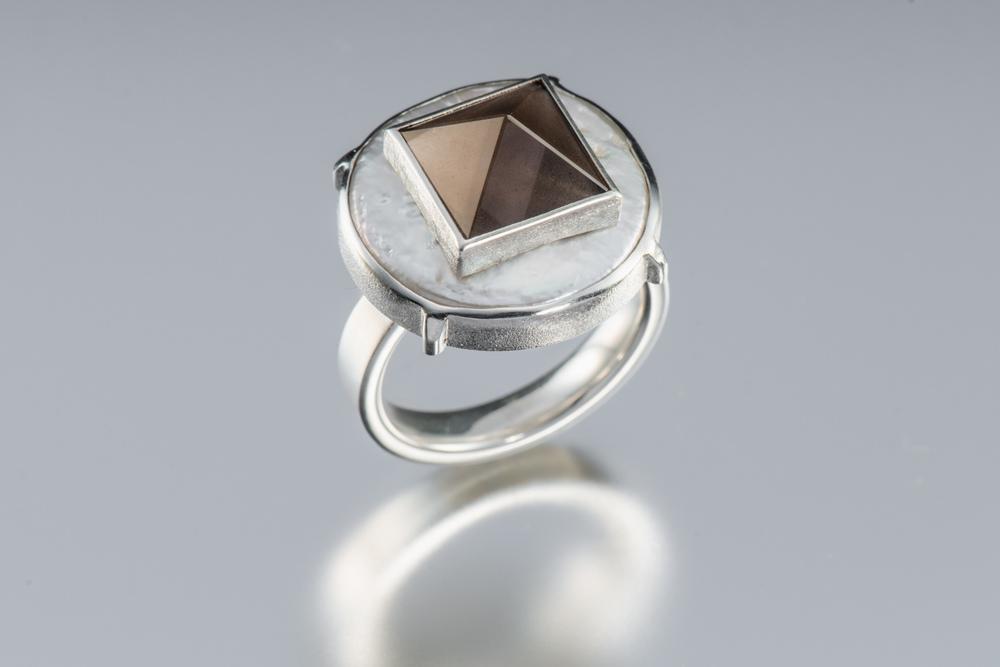 Kerman. J R8 (R518) ss, cultured coin pearl, smokey quartz $1800.jpg