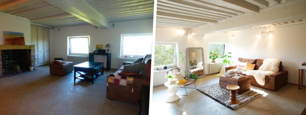 Appartement Le Noyer homestagé par Bumper (image de droite), à gauche l'avant.