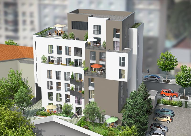 RICHELIEU - VILLEURBANNE RUE MARC SANGNIER, 69100 Appartements du T2 au T3 à partir de 254.850€ FAI
