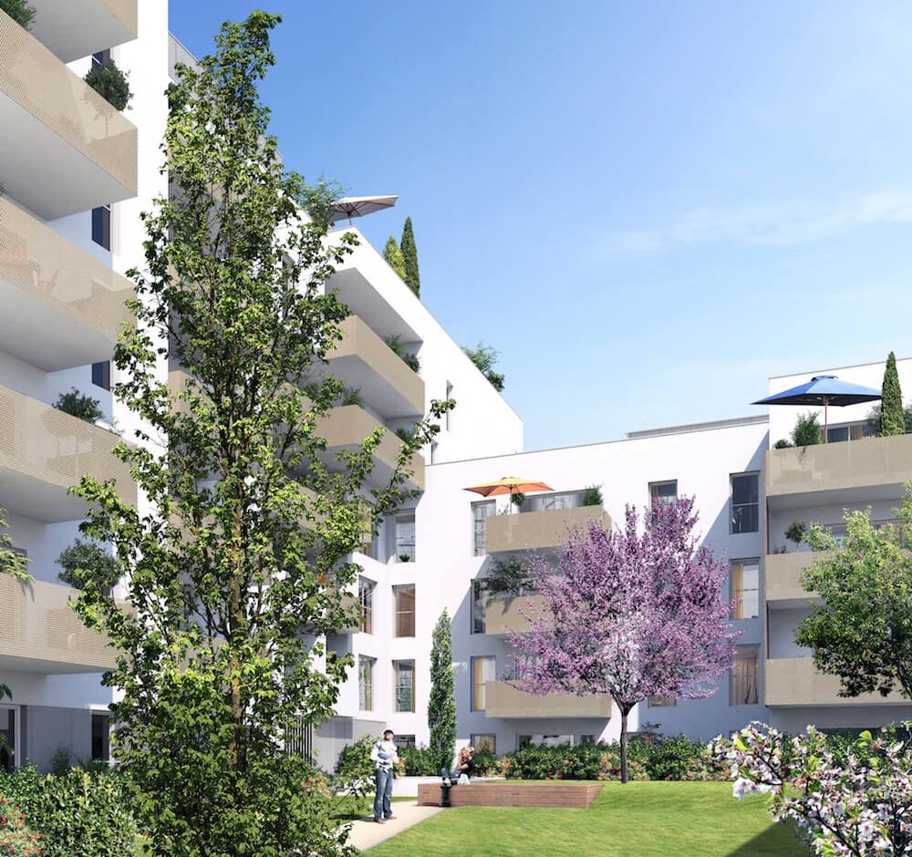 PAR DESSUS LES TOITS -VILLEURBANNE RUE FRANCIS DE PRESSENSÉ/RUE GREUZE, 69100 Appartements du T2 au T4 à partir de 218.000€ FAI