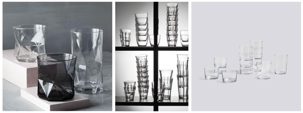 Les verres Duralex / Cassiopeia de Bormioli Rocco / Hay Glassware