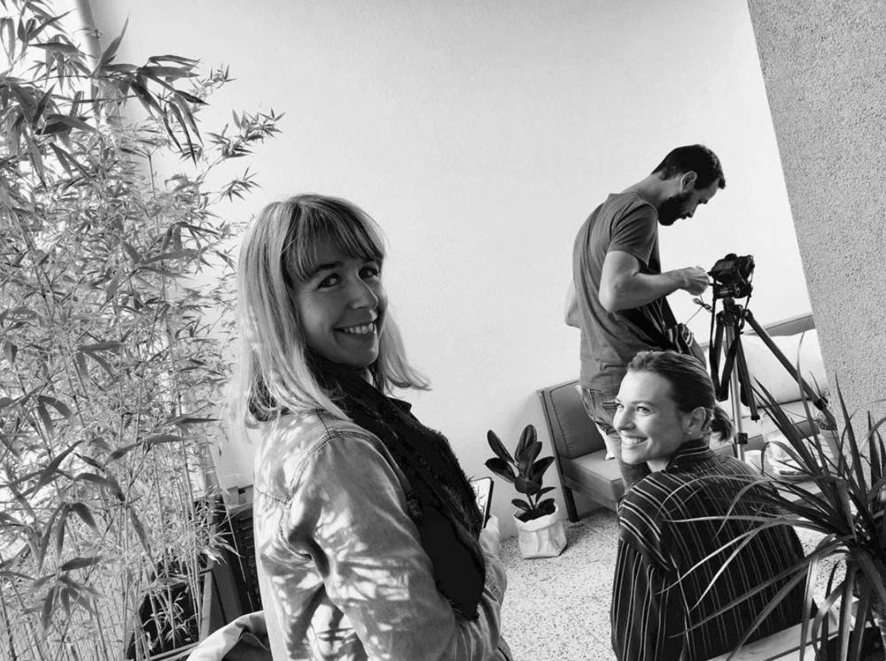 Le trio Agent (Aurélie)—DA (Alexandra)—Photographe (Jérome Pantalacci)
