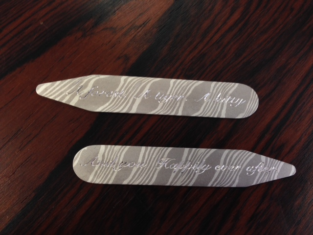Mokume Gane Collar Stays