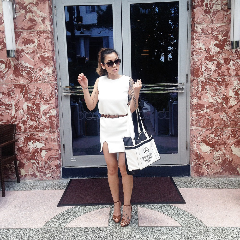 Dress -  Hello Parry; Sunglasses - Le Specs; Shoes - Wanted Shoes