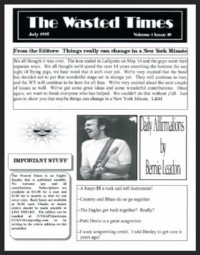 In this issue: Daily Affirmations by Bernie, Meeting Don at the Hard Rock, Top 10 Signs I'm a Big Fan, Don Henley's Marriage and its Effect on His Fans, HFO Review (Little Rock), Glenn Frey Discography, Eagles Humor, Eagles Travel (Coffeyville, KS),