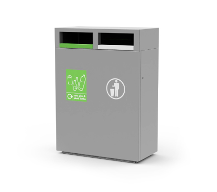 s45 recycling bin, 2 compartment