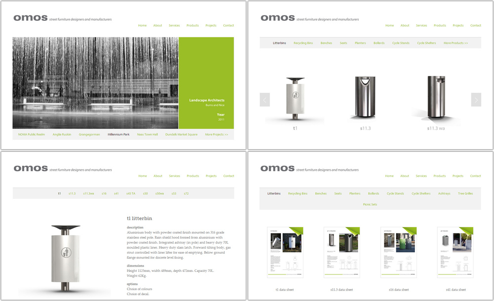 Omos Street Furniture - New Website