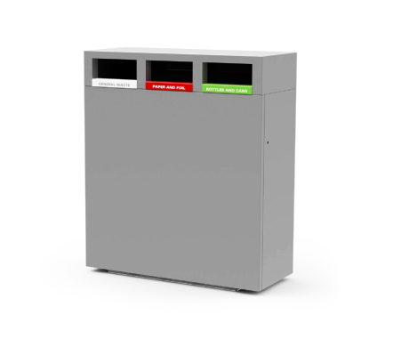 s45 recycling bin, 3 compartment