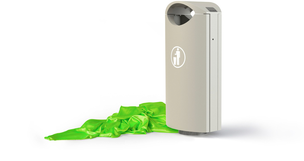Omos Street Furniture - s16.2 litter bin