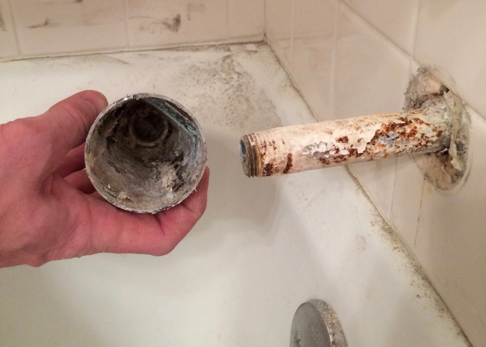 About 40 years worth of hard water deposits.