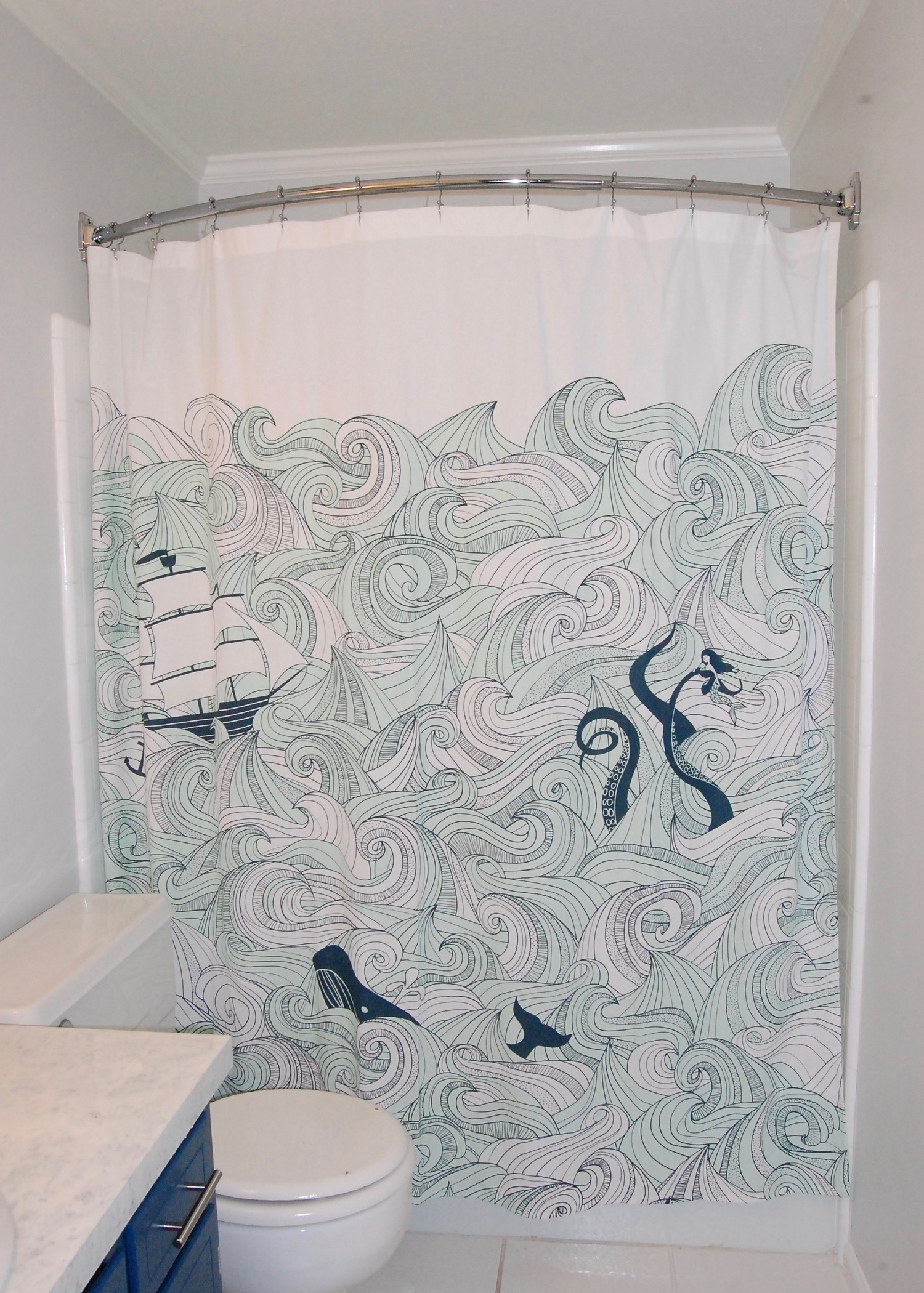 At What Height Should A Shower Curtain Be Installed Gerwerken Crafts