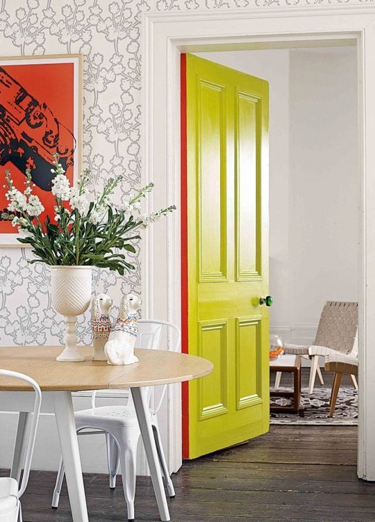 Adding Color to the edge of a door  - inspiration from Apartment Therapy