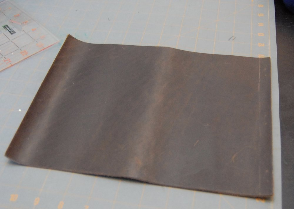 "Cover:  A sheet of 8.5"" x 11"" leather by ArtMinds"