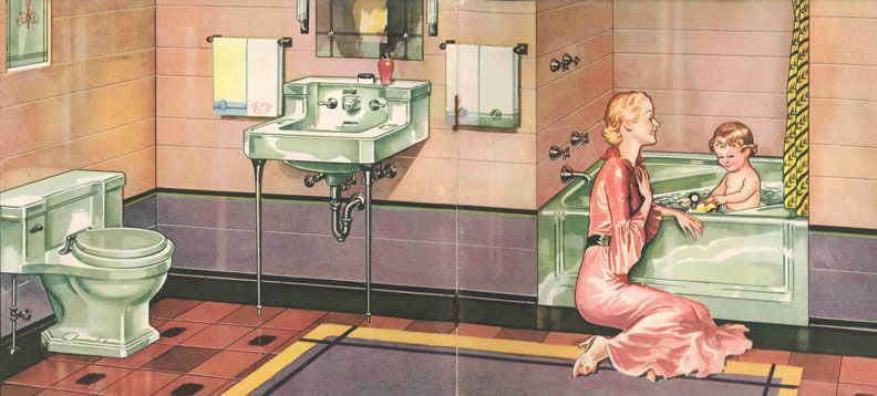 The toilets that most people have in their houses today are not significantly different than the toilets available in the 1930's.