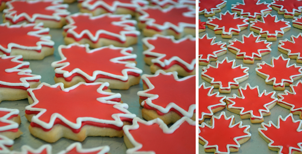 Bake Sale Toronto Canada Day Maple Leaf Sugar Cookies Red and White Facebook.jpg