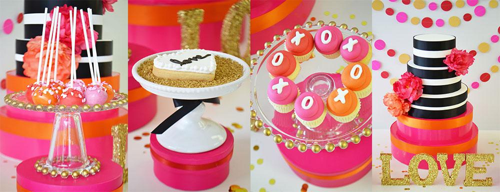 Bake Sale Pink Mini Cupcakes Flags Flower Mini Cake Facebook s.jpg
