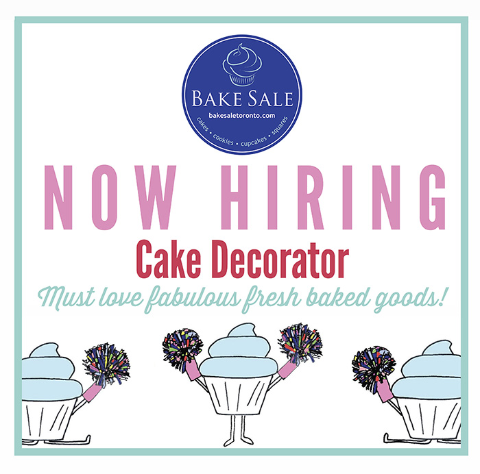 Cake Decorating Job Leeds : Employment Opportunity: Cake Decorator Wanted   Bake Sale ...