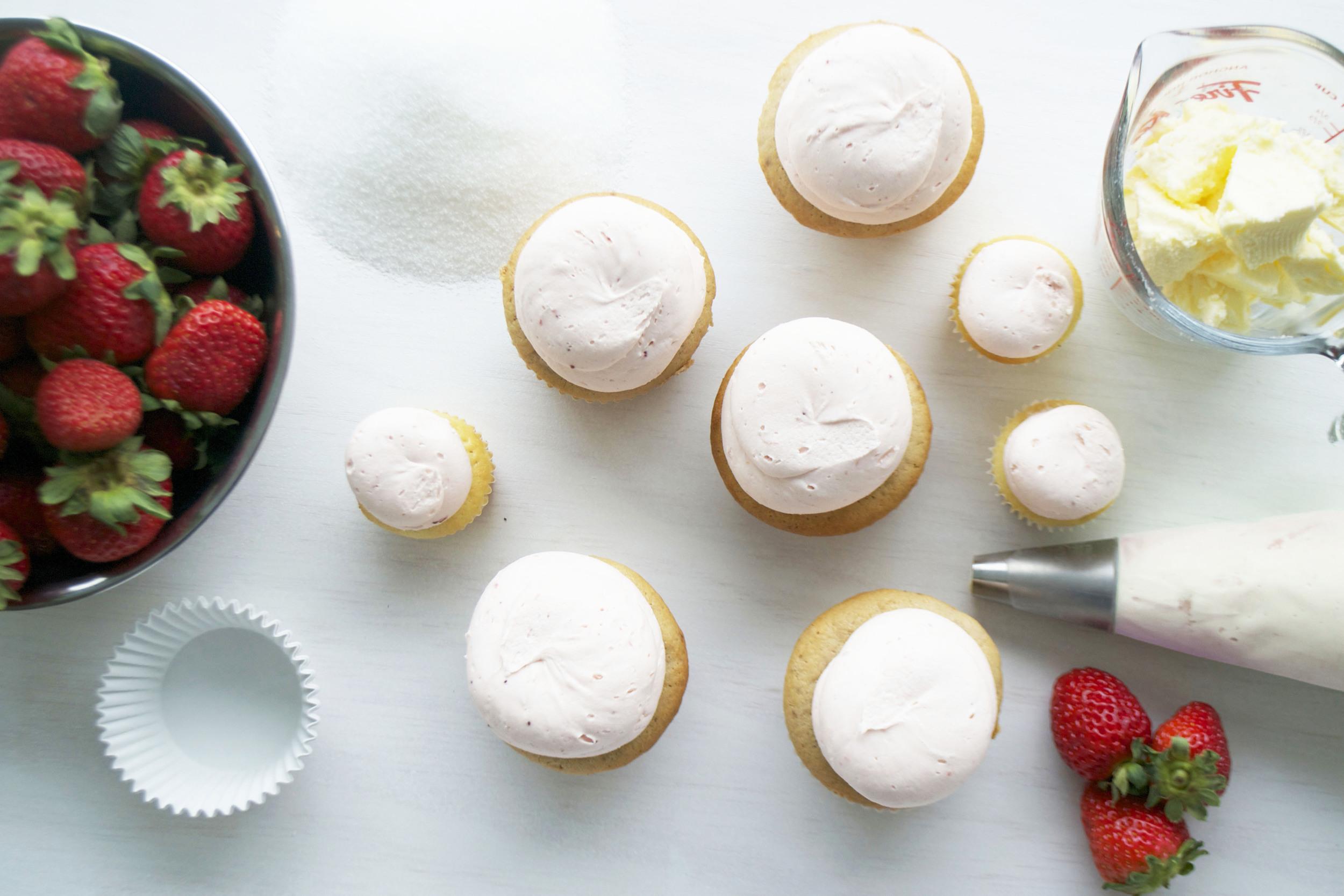 bake toronto bake toronto strawberry cupcakes ingredients butter pink icing jpg