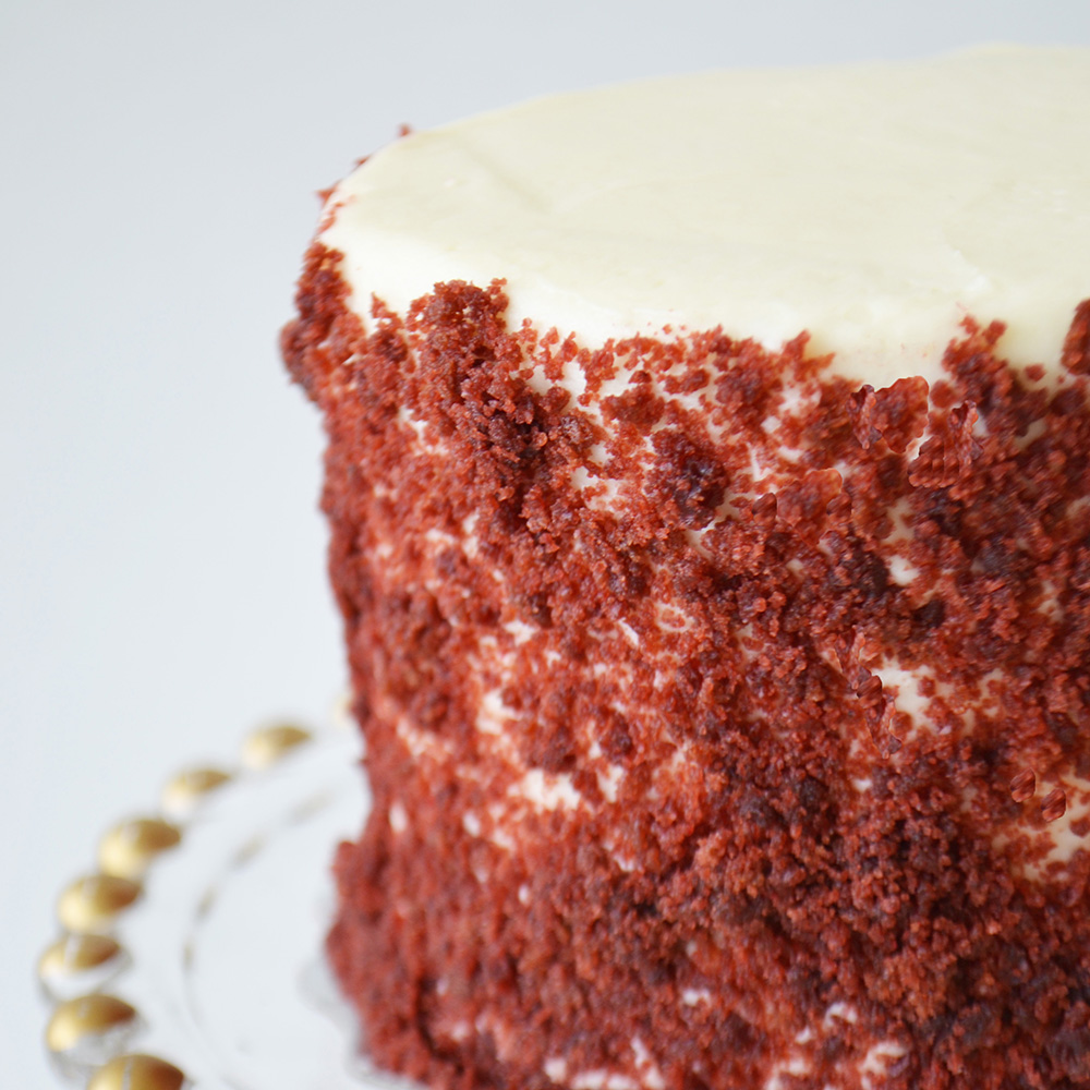 Red Velvet Cake - Traditional red velvet cake with cream cheese icing.