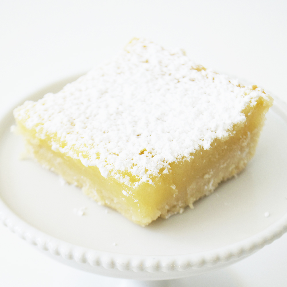 Lemon Square - Shortbread crust with tangy lemon filling.