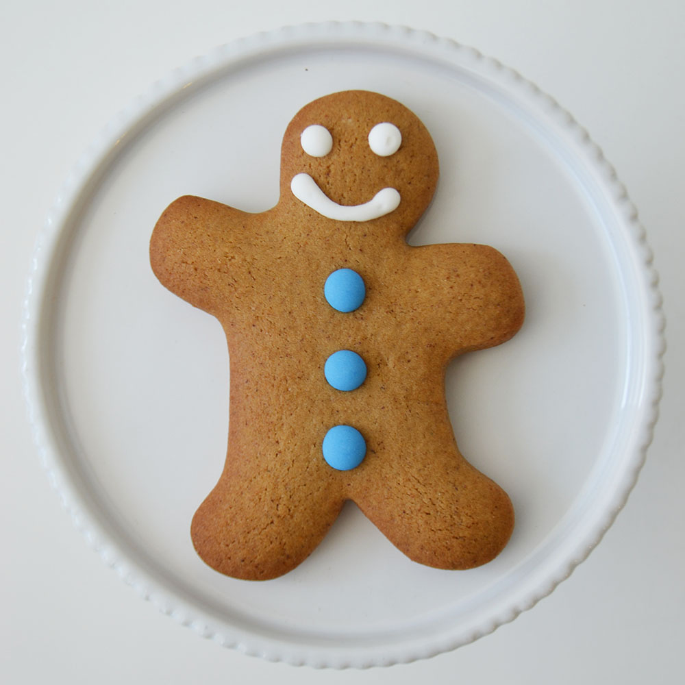 Gingerbread Person - spiced gingerbread with royal  icing.