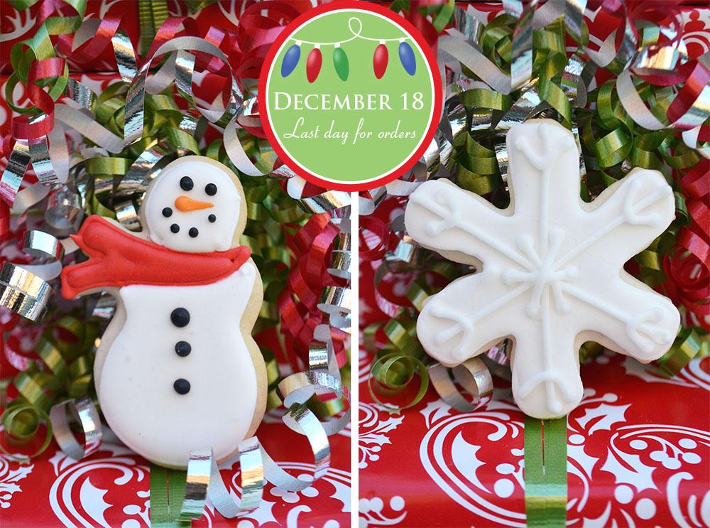 Snowman Snowflake Sugar Cookies Bake Sale Toronto