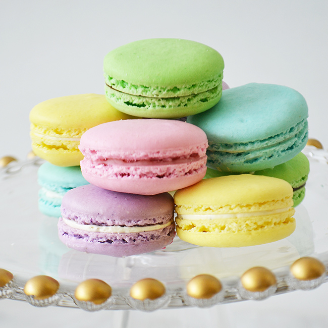 Macarons  -  Click here  for flavour options