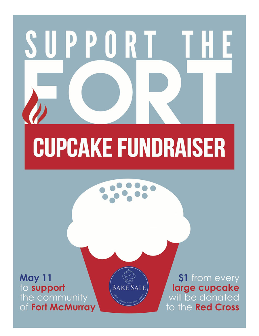 fort mcmurray fundraiser bake toronto on 11th bake will donate 1 from every large cupcake in our stores to the red cross to support the community of fort mcmurray
