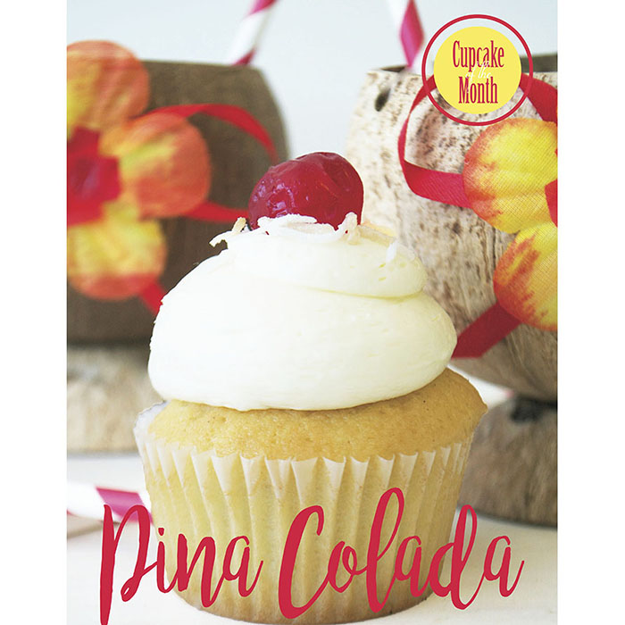 Bake Sale Pina Colada Cupcake of the Month Poster.jpg