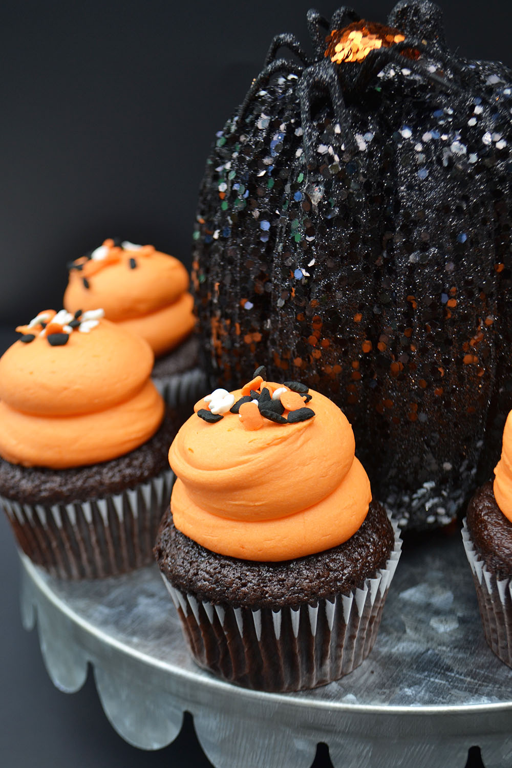 Large Chocolate Cupcake with Halloween Sprinkles $3.25