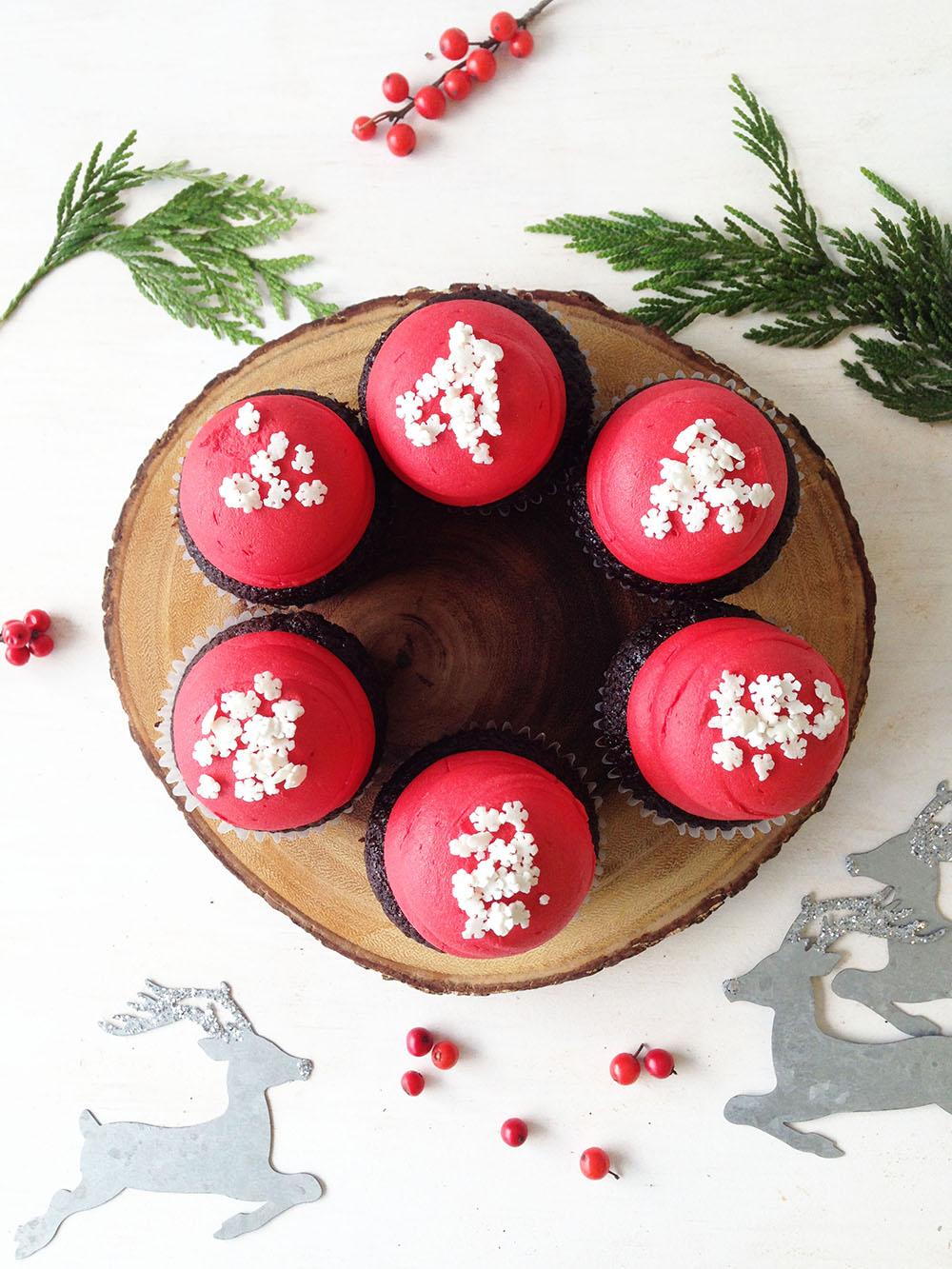 Chocolate Snowflake Cupcake - $3.25