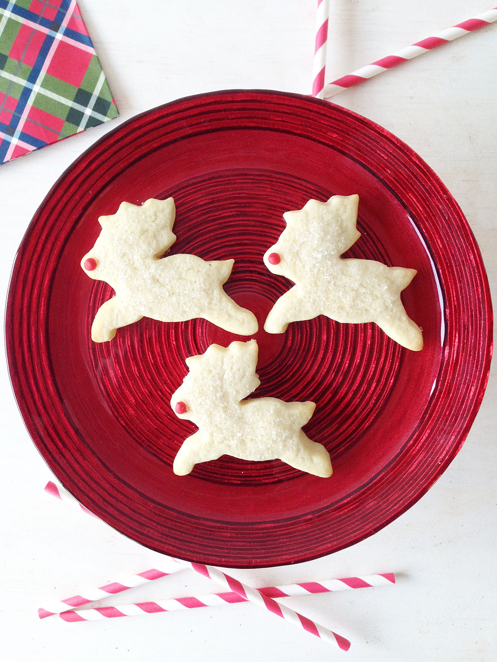 Rudolph Reindeer Shortbread Cookie $1.25