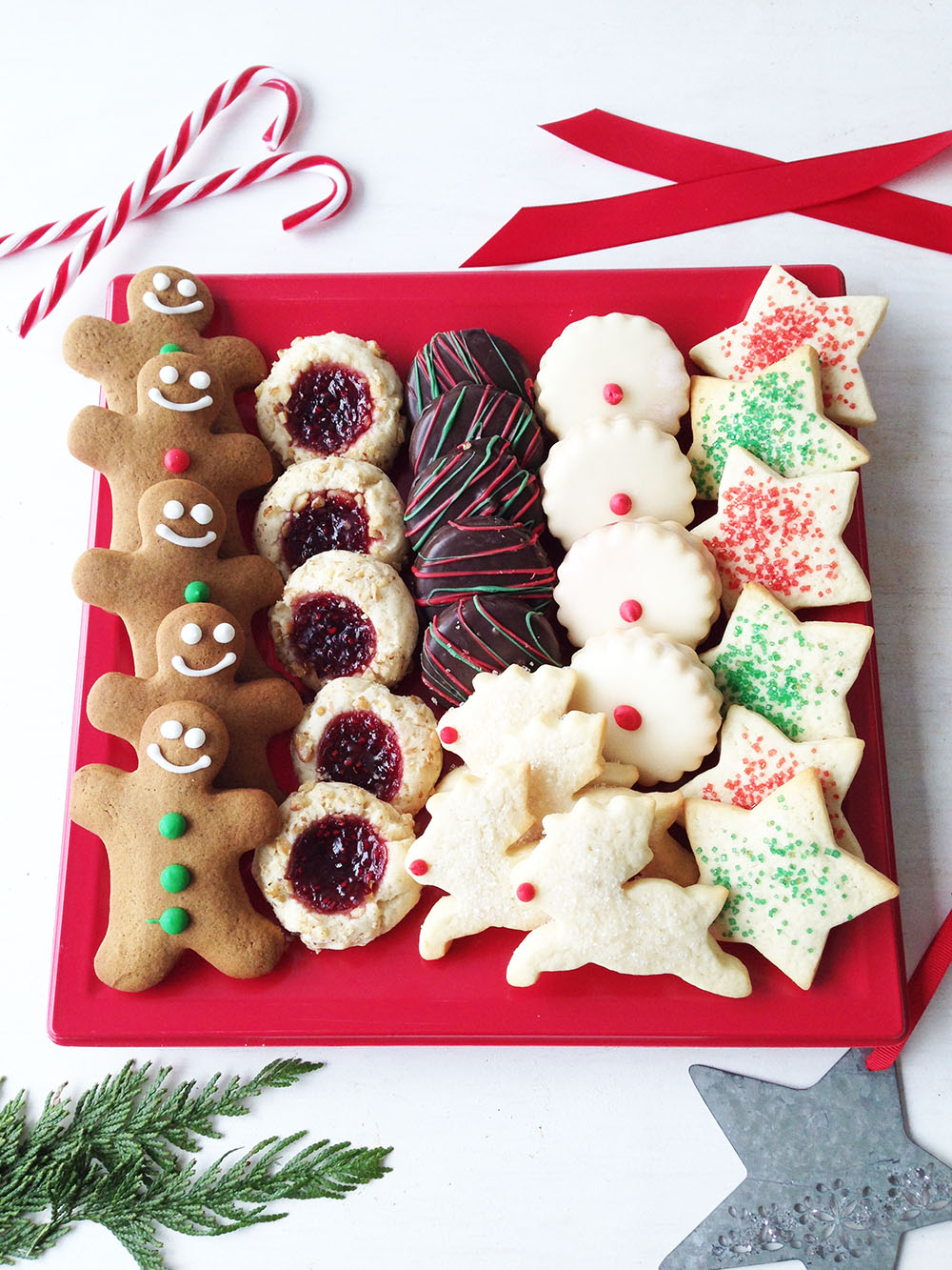 Assorted Christmas Cookie Platter - 30 Cookies - $45