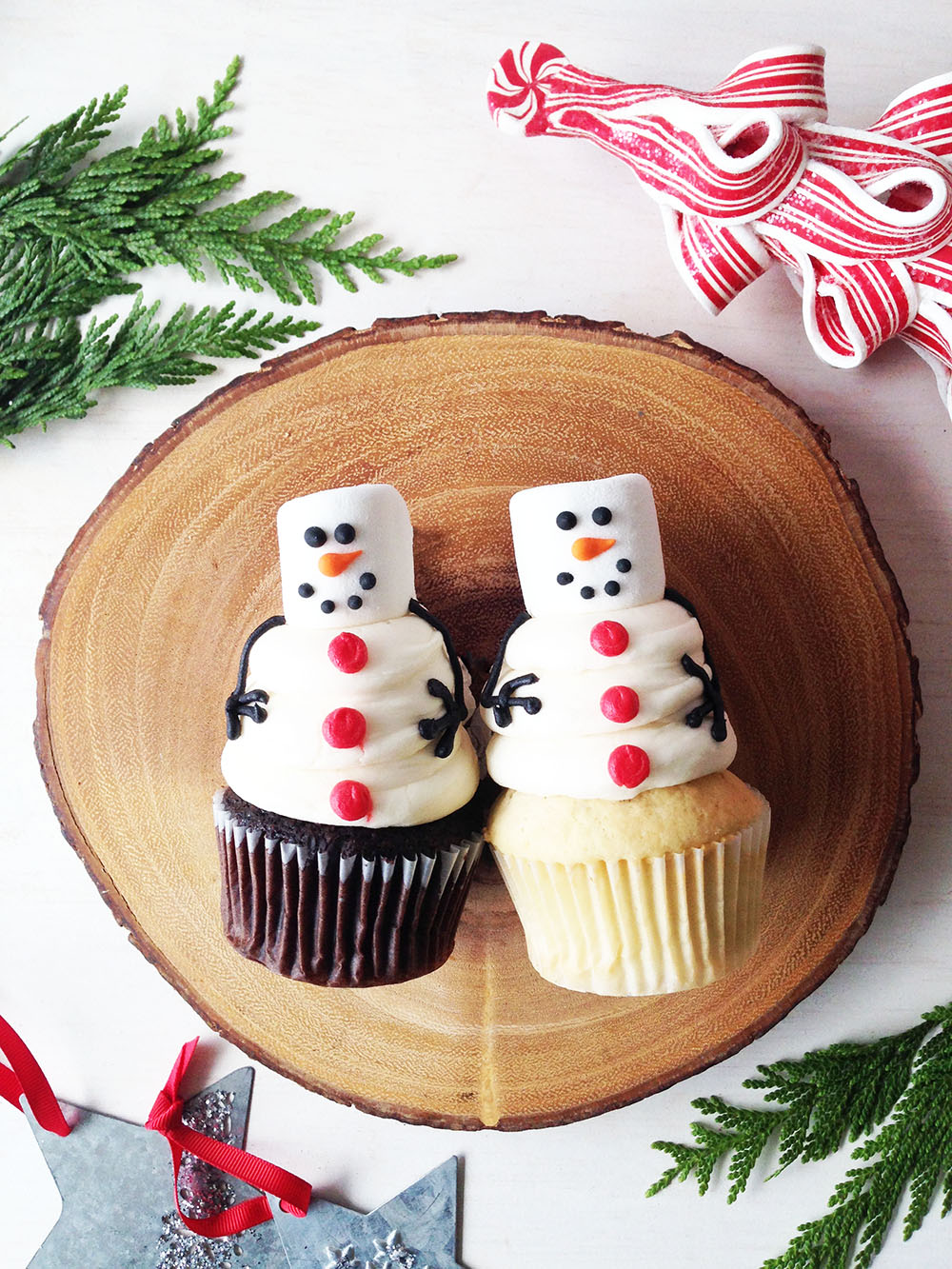 Chocolate or Vanilla Melting Snowman Cupcake - $4.00