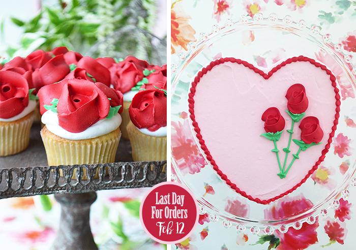 Bake Sale Toronto Valentine's Heart Cake Rose Cupcakes.jpg
