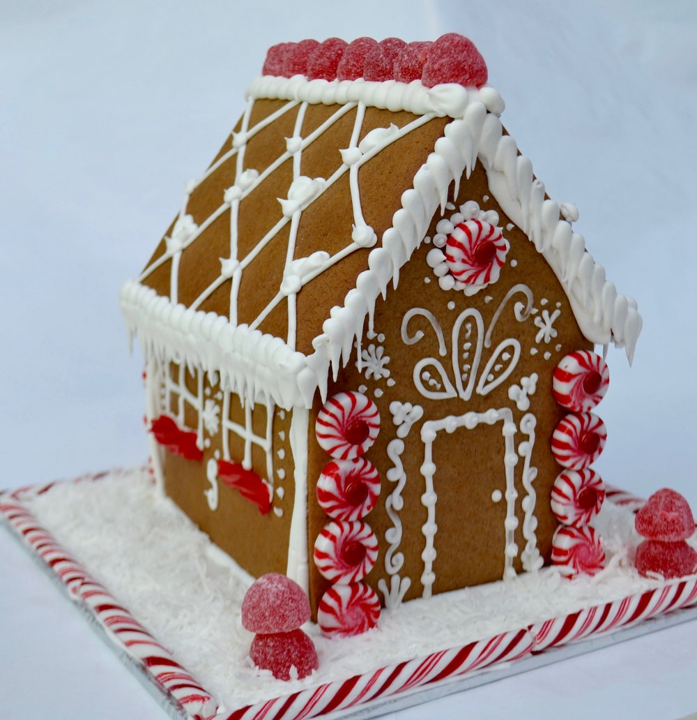 Decorated Gingerbread House $65