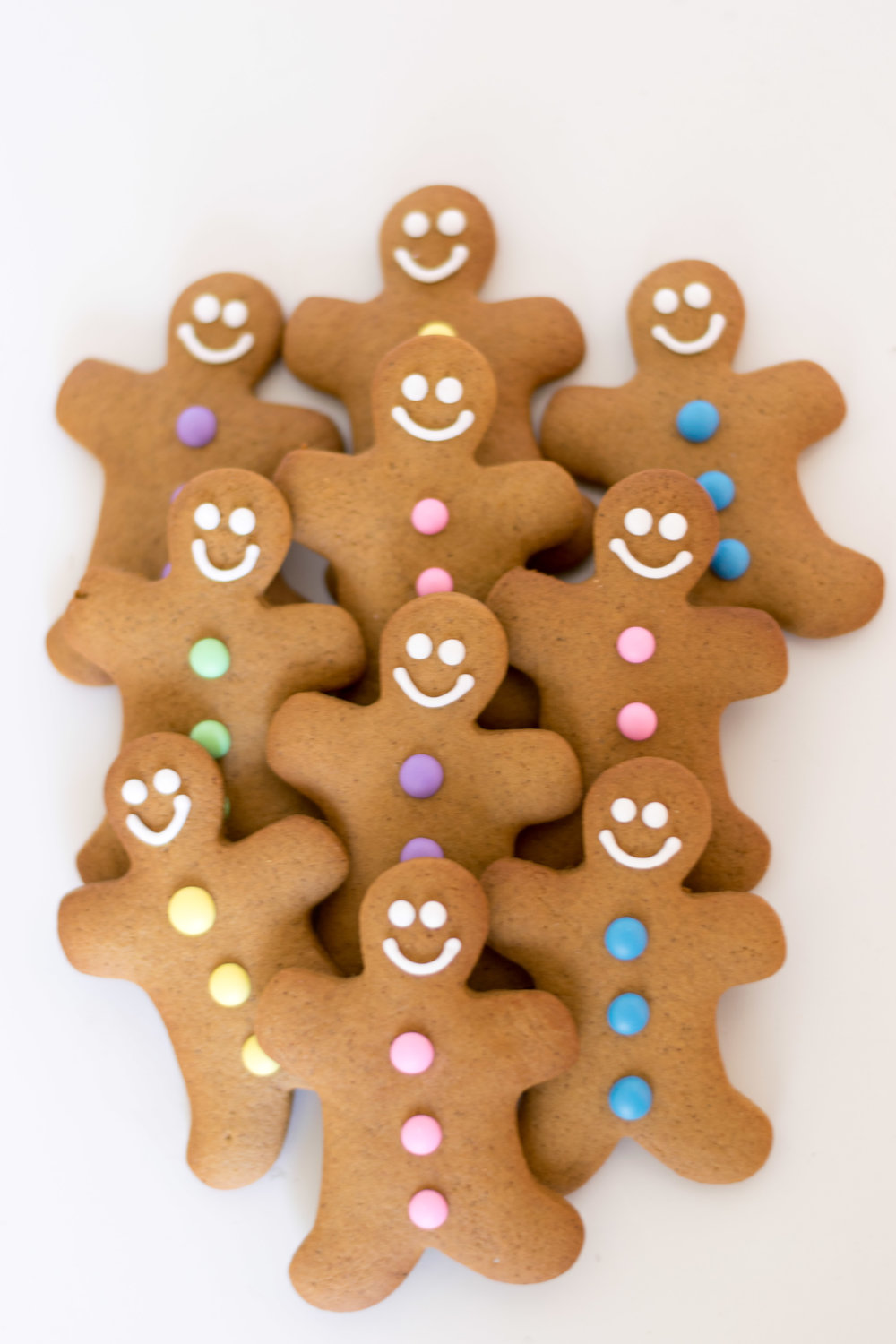 Gingerbread Men with pastel buttons $1.35