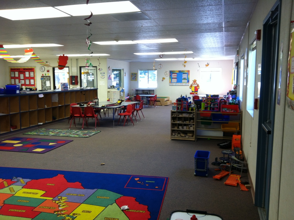 This 3,600 SF child care facility operated by the Central Bay Area YMCS is one of 11 centers in the Tri-Valley area, and this project is a prototype project.  This interior space planning involved integrating design ideas in layout, finishes, furnishings and equipment.  The goal of the client is to create 6 functional program areas within one room, with visual and physical separation so a child can easily identify activities associated with designated areas, and allowing for increased focus time.  It was the client's goal to create little innovators in the time spent before and after school.  Located in Alamo, California.