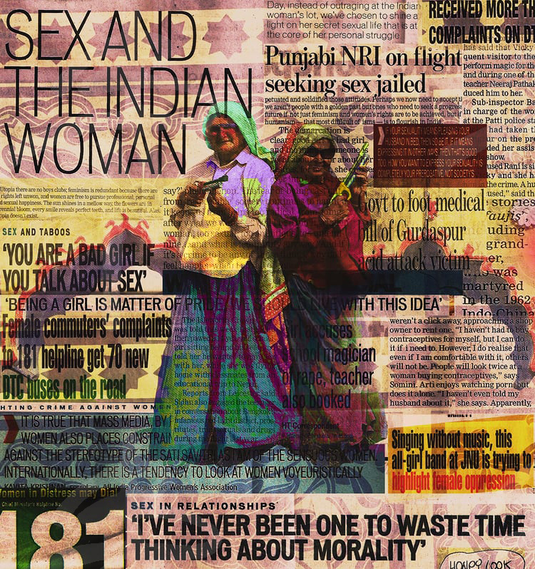 International Women's Day Headlines, 2016. Digital collage.
